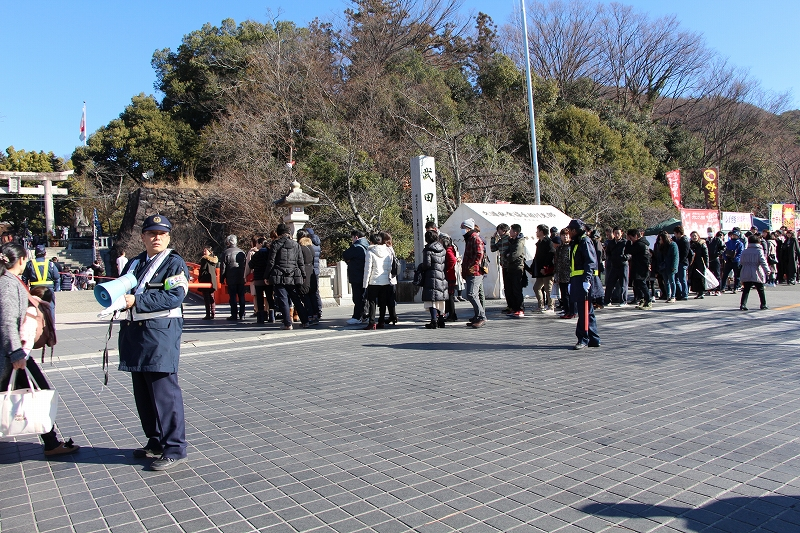 New Years day of Takeda Shrine