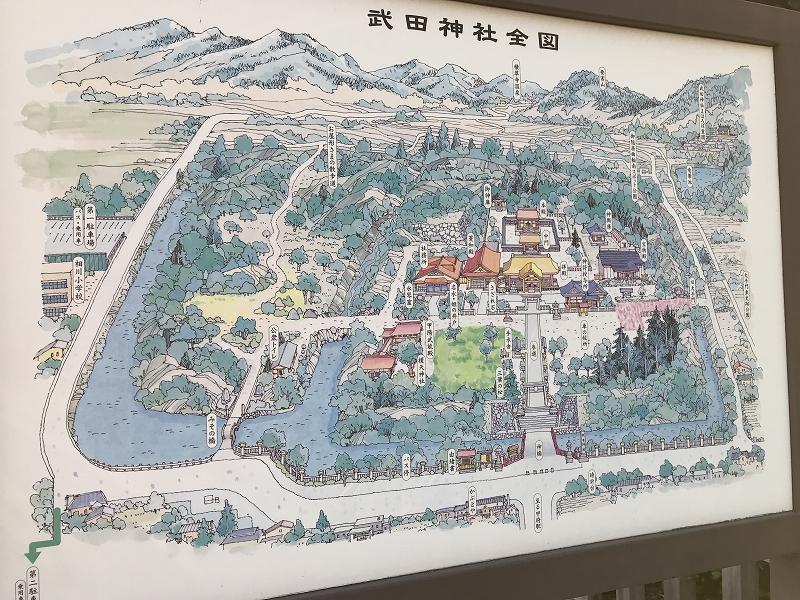 Map of Takeda Shrine