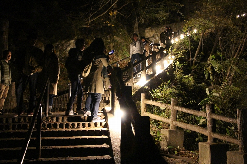 Night View of Senga-taki Fall