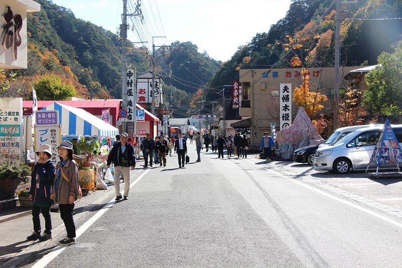 souvenir shops and restaurants